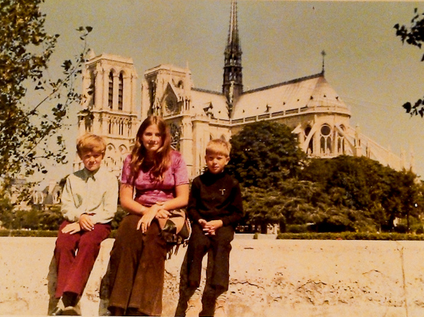 Deb aged 13 on first trip to Paris